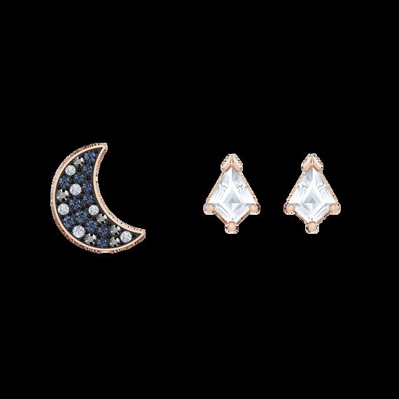 Swarovski Symbolic Pierced Earrings set, Multi-colored, Rose-gold tone plated