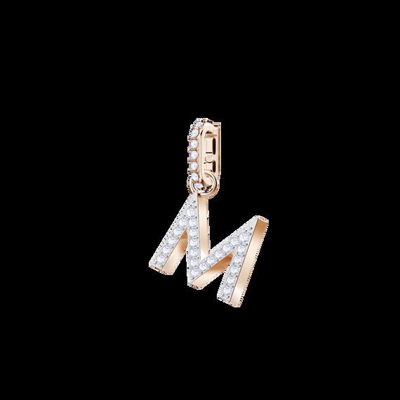 Swarovski Remix Collection Charm M, White, Rose Gold Plating
