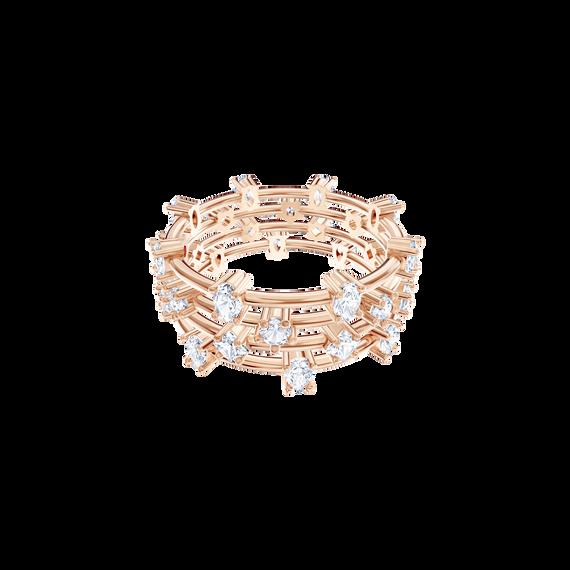 Penélope Cruz Moonsun Cluster Ring, White, Rose gold plating