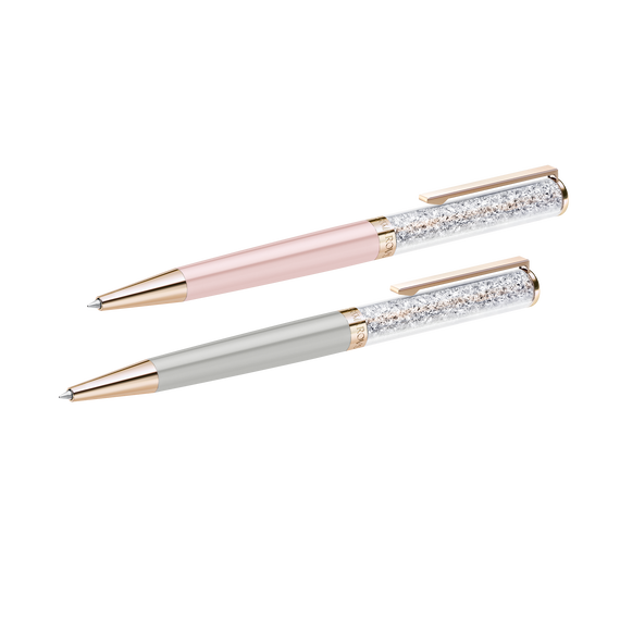 Crystalline Ballpoint Pen set, Rose-gold tone plated