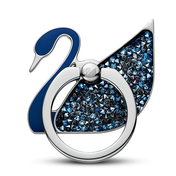 Swan Ring Sticker, Blue, Stainless steel