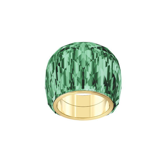 Nirvana Ring, Green, Gold-tone PVD