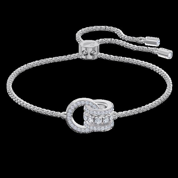 Further Bracelet, White, Rhodium plated